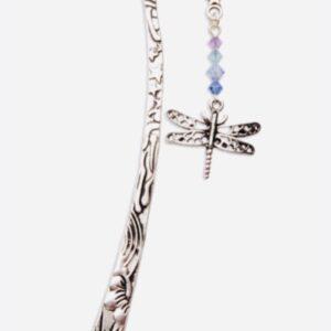 Castlebellgifts, Pewter Bookmark Violet Dragonfly