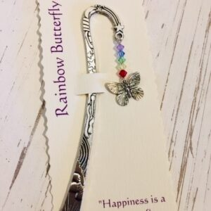 Castlbellgifts, Pewter Bookmark Rainbow Butterfly