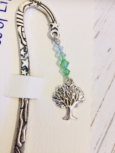 Castlebellgifts, Pewter Bookmark Green Tree