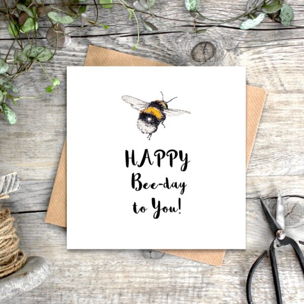 Castlebellgifts, Toasted Crumpet Bee Birthday Card