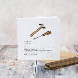 Castlebellgifts, Toasted Crumpet Handyman Card