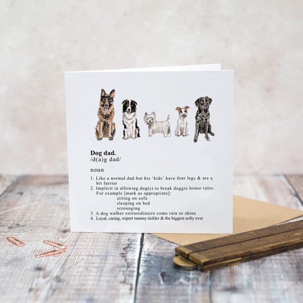 Castlebellgifts, Toasted Crumpet Dog Dad Card