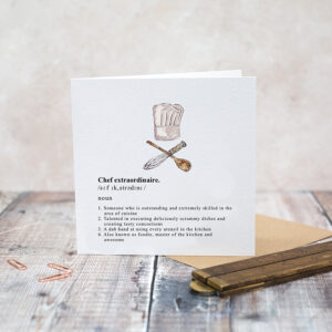 Castlebellgifts, Toasted Crumpet Chef Card