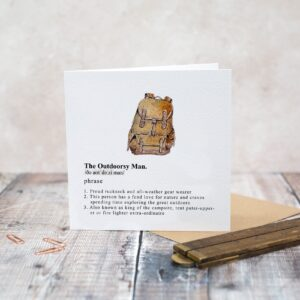 Castlebellgifts, Toasted Crumpet Outdoor Man Gents Card