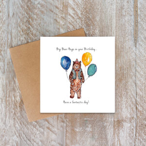 Castlebellgifts, Toasted Crumpet Bear Birthday Card