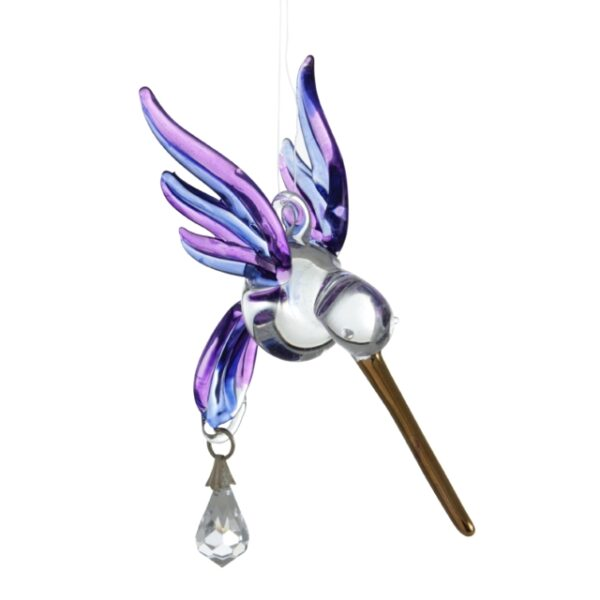 Castlebellgifts, Fantasy Glass, Collectables, Purple , Hummingbird
