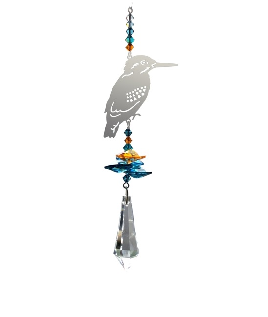 Castlebellgifts, Wildthings Kingfisher Crystal Fantasy
