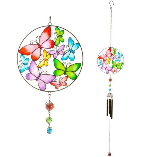 Castlebellgifts, Windchime Butterfly Multicoloured