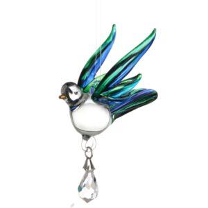 Castlebellgifts, Fantasy Glass, Peacock, Songbird