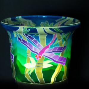 Dragonfly Light Glass Votive