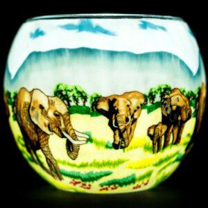 Elephant Family Light Glass