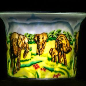 Elephant Family Votive