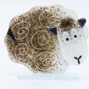 Milford Glass Sheep white